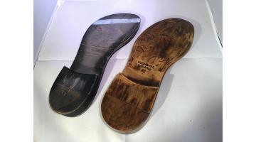 Suole in cuoio per scarpe da uomo