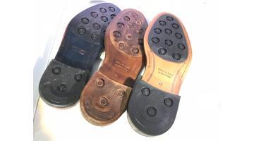 Suole in cuoio stampate per calzature uomo
