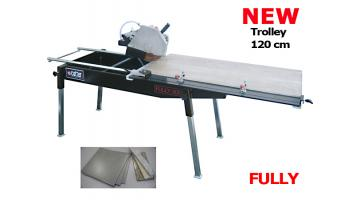 Manual machine for cutting tiles