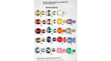 Pietre cristallo verniciate