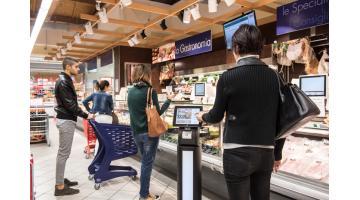 Distributore ticket eliminacoda per supermercato