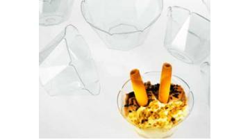 Coppe per gelato trasparenti