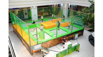 Mini trampoline park per centri commerciali