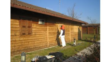 Sabbiatrice per restauro legno