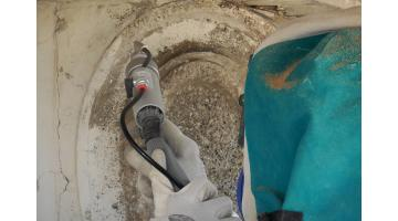 Sabbiatrice pulitura superficiale per manufatti storici