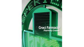 Croci led monocolore per farmacia