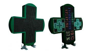 Croci led RGB per farmacia