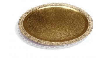 Кружева в золотой торт