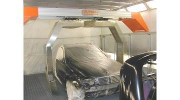 Robot a raggi infrarossi per verniciatura carrozzeria