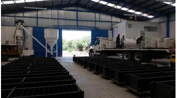 Turnkey system for the production of cellular concrete
