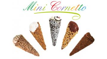 Minicornetto al cioccolato per gelateria
