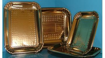 Vassoi oro in cartone accoppiato