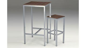 Tavolo moderno alto con sgabello Francy