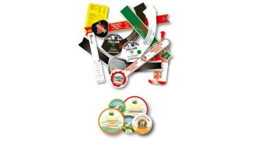 Vegetable paper labels and collars certified for food contact