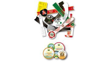 Etichette e collari in carta vegetale certificati per contatto alimentare