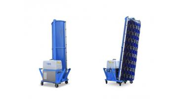 Sistema di lavaggio mobile monospazzola con trazione oleodinamica