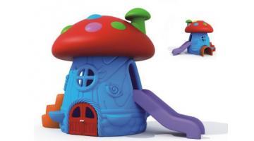 Casetta con scivolo per bambini
