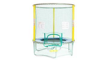 Trampolino elastico con kit di protezione superiore