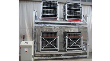 Giro automatic pallet for riddling