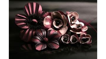 Fiori in pelle realizzati a mano