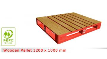 Pallet di legno dimensioni 1200x1000 mm