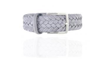 Cintura da uomo in pelle intrecciata collezione Vintage colore Grey