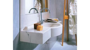 Monoblock marble sink
