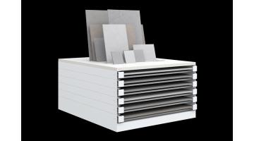 Horizontal display units for tiles 100x100