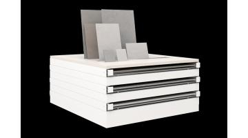 Horizontal display units for tiles 120x120