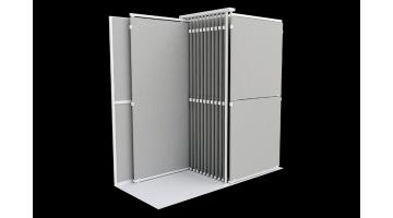 Large format tile display unit with ultra-flat platform