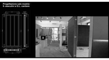 Progettazione showroom - fase esecutiva e direzione lavori in cantiere