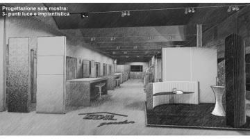 Progettazione showroom - fase punti luce e impiantistica