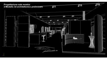 Showroom design - 3D architectural model phase