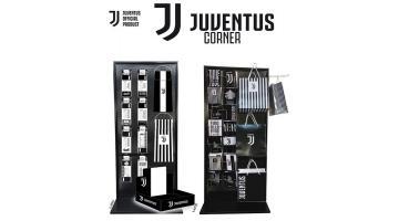 Espositori biglietti di auguri e shopper Juventus