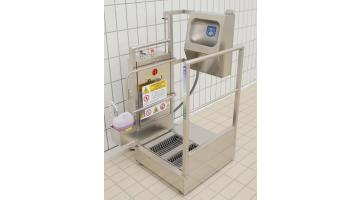 Ergonomic hygiene station