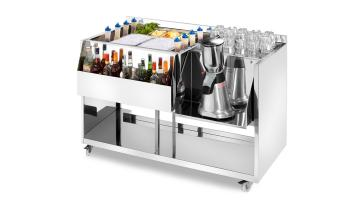 Stainless steel cocktail stations