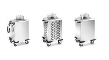 Trolleys for flat steel distribution
