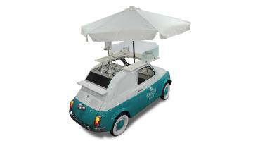 Fiat 500 allestita a negozio viaggiante - versione statica