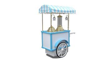 Carrettino gelato a spinta