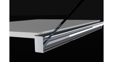 Sistema di apertura verso il basso vetri singoli