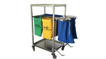 Carrelli logistica per biancheria ospedaliera