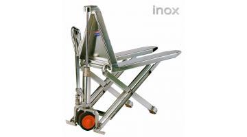 Transpallet a pantografo in acciaio inox