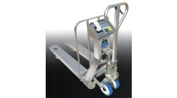 Transpallet pesatore con stampante