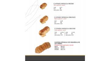 Produzione cannoli di pasta sfoglia per pasticceria