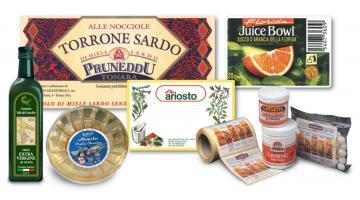 Etichette adesive per alimenti
