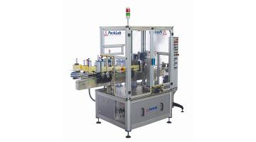 Etichettatrice autoadesiva per contenitori cilindrici