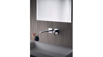 Design mixer for built-in washbasin