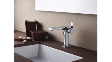 Design mixer for washbasin without waste