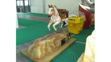 Electro-mechanical horse in fiberglass