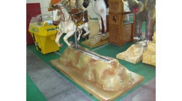 Electromechanical pony carousel
